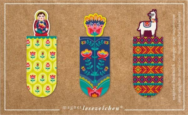 Magnet Lesezeichen Lama Folklore