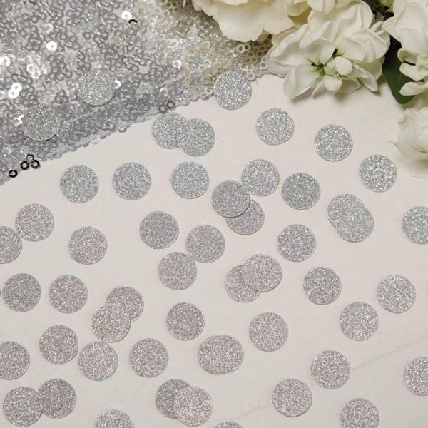 Metallic Perfection - Confetti silber