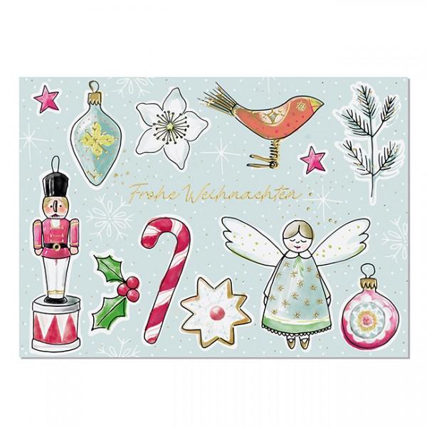 Krima & Isa Postkarte Weihnachtsliebelei