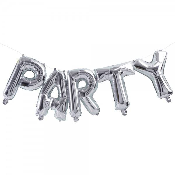 Pick & Mix- Ballongirlande Party silber