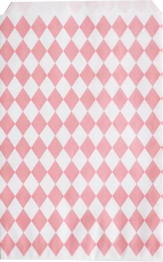 Papiertüten Set rosa Raute