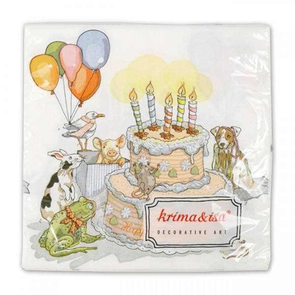 Krima & Isa - Servietten Geburtstagstorte