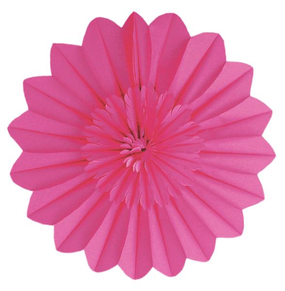 Blumen Rosette pink