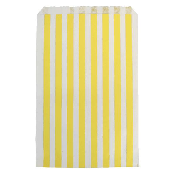 Papiertüten Set Streifen gelb