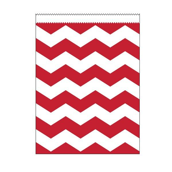 Papiertüten gross rot Chevron