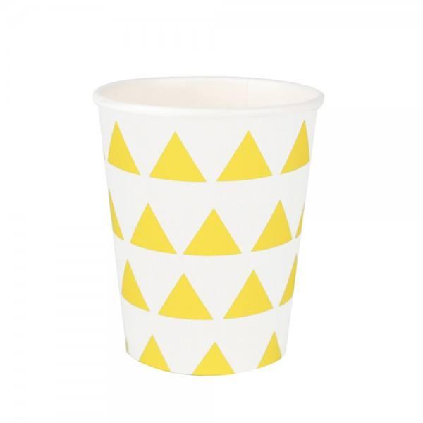 Becher gelb Dreieck