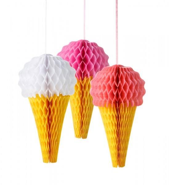 Wabenballset Eis pink