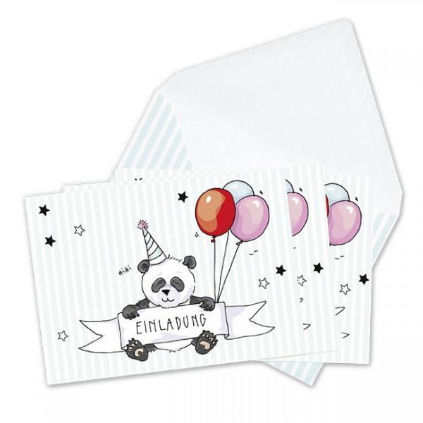 Krima & Isa - Einladungsset Panda