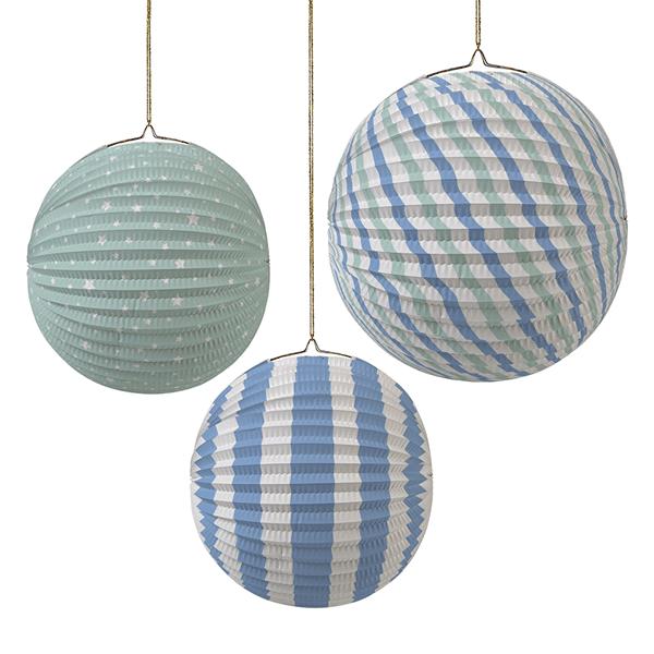 Meri Meri - Toot Sweet Lampionset blau