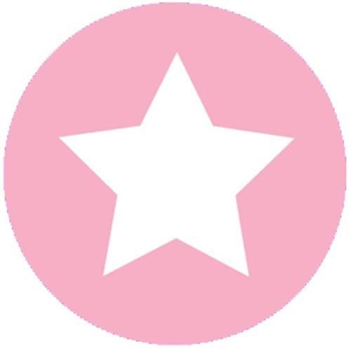 Aufkleber klein Stern rosa