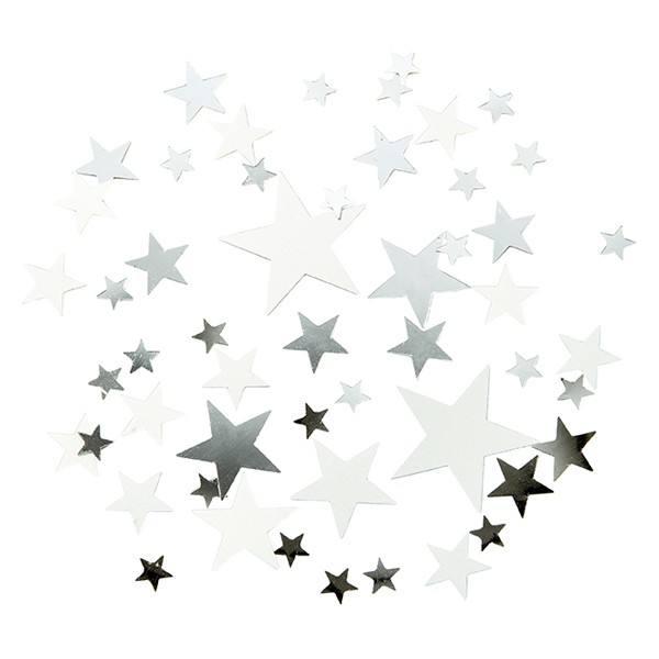 Weihnachtskonfetti Sterne silber