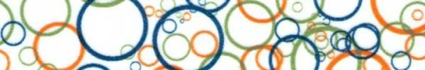 Maskingtape Kreise orange, blau und grün