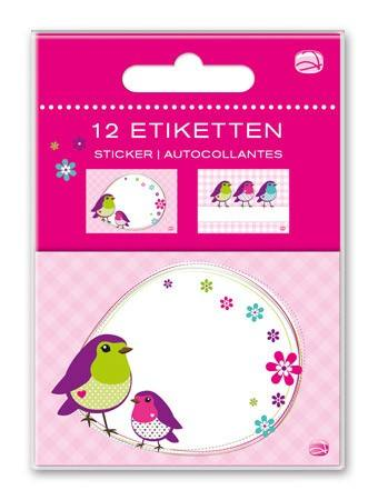 Etiketten Set Vögelchen