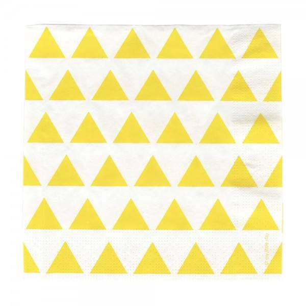 Servietten gelb Dreiecke