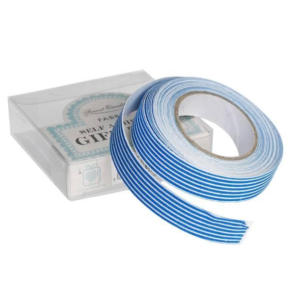 Stoffklebeband blau Streifen