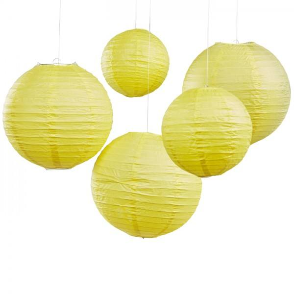 Boho Laternenset gelb