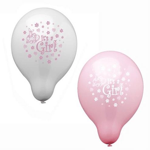 Luftballonset It´s a girl
