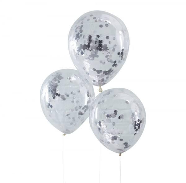 Pick & Mix - Ballons Konfetti silber