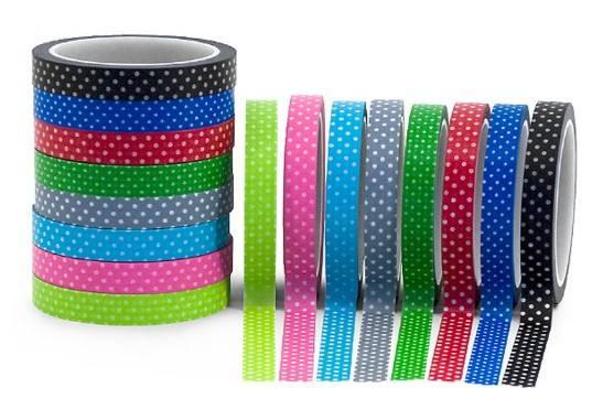Washi Tape Punkte diverse Farben