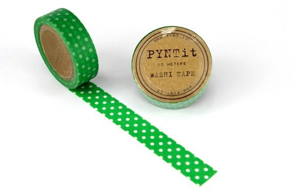 Maskingtape Punkte grün/weiss