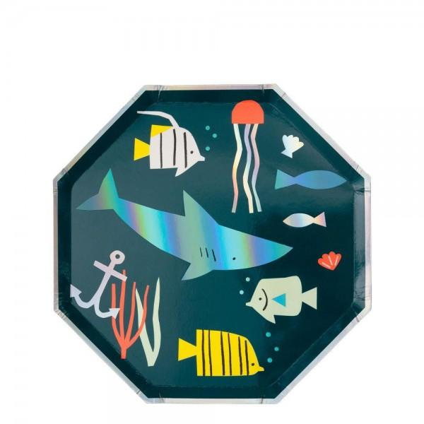 Meri Meri - Pappteller Unterwasserwelt