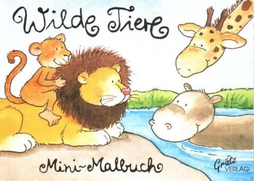 Malbuch Wilde Tiere
