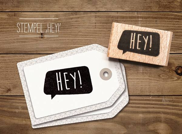 cats - Stempel Hey
