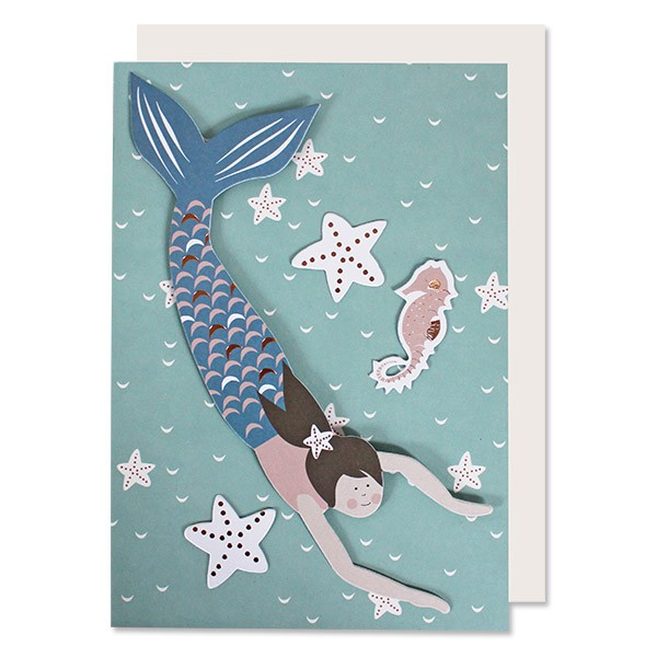 Ava & Yves Glückwunschkarten Set Meerjungfrau