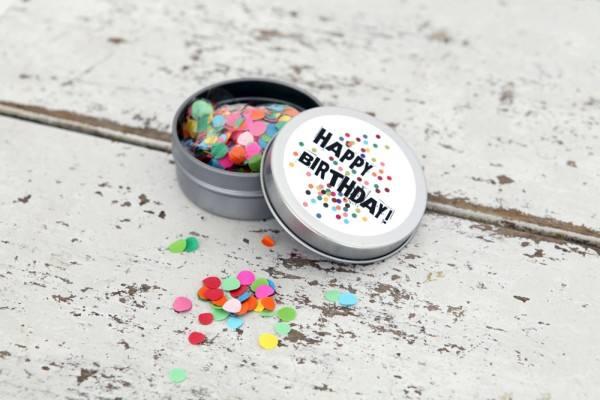 Konfettidose Happy Birthday