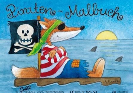 Malbuch Pirat