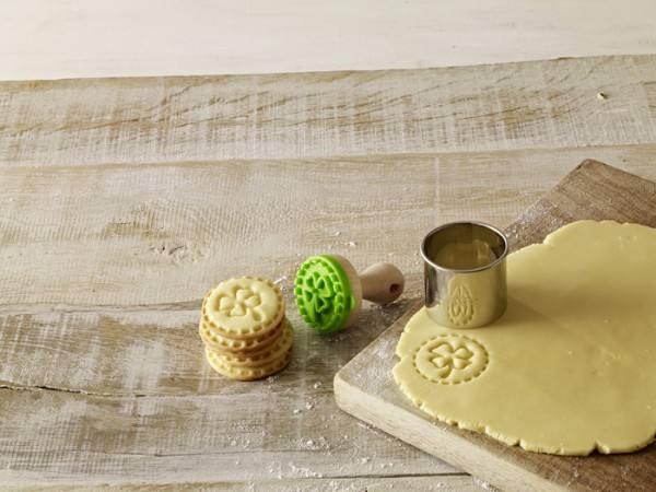 Mini Keks Stempel Kleeblatt