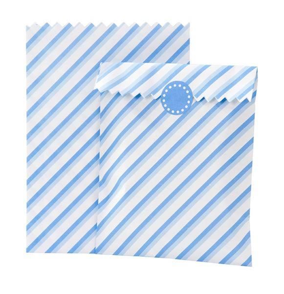 Mix - Papiertüten blau