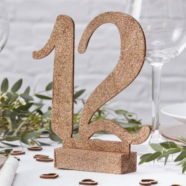 Bride to be Tischnummern rosegold