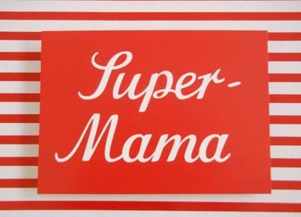 Krima & Isa - Postkarte Super Mama
