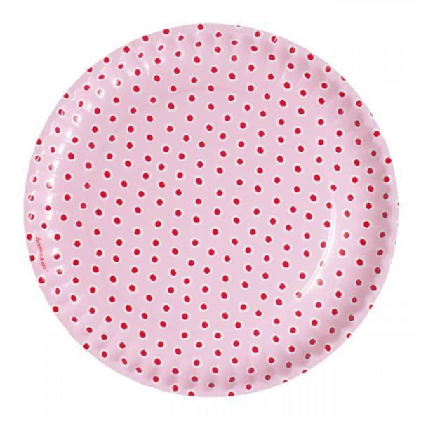 Krima & Isa - Teller Tupfen rosa