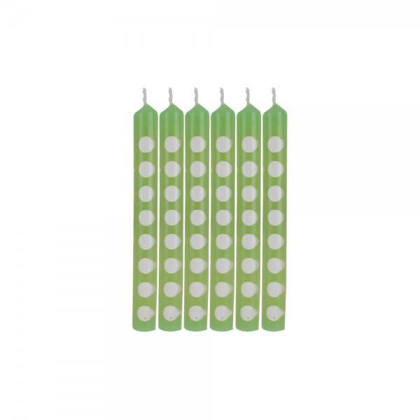 Mini Kerzen Punkte grün