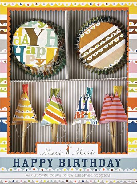 Meri Meri - Cupcake Set Happy Birthday