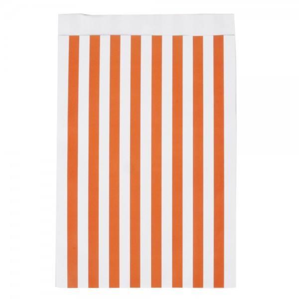 Papiertüten Set Streifen orange