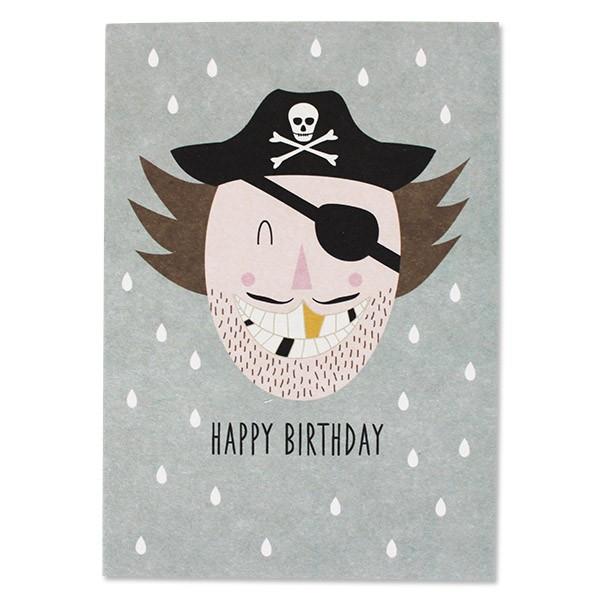 Ava & Yves Postkarte Pirat