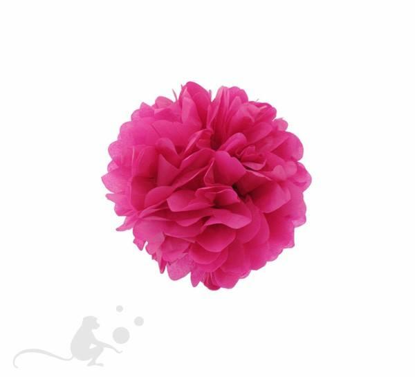Pom Pom 25 cm rund pink