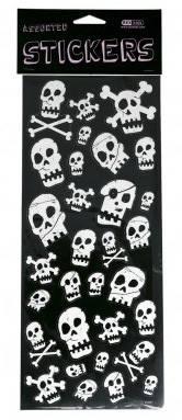 Sticker Pirat schwarz/weiss