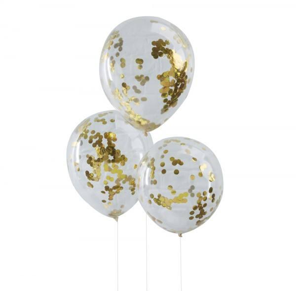 Pick & Mix - Ballons Konfetti gold