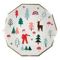 Meri Meri - Pappteller Weihnachten Santa