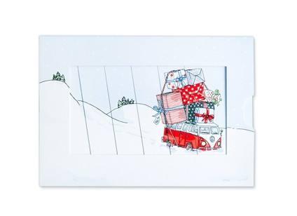 Krima & Isa - Schiebekarte Weihnachtsbus