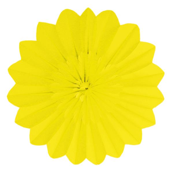 Blumen Rosette gelb