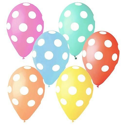 Luftballonset Punkte bunt