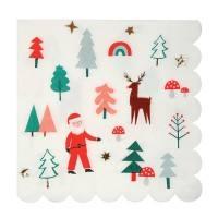 Meri Meri - Servietten Weihnachten Santa