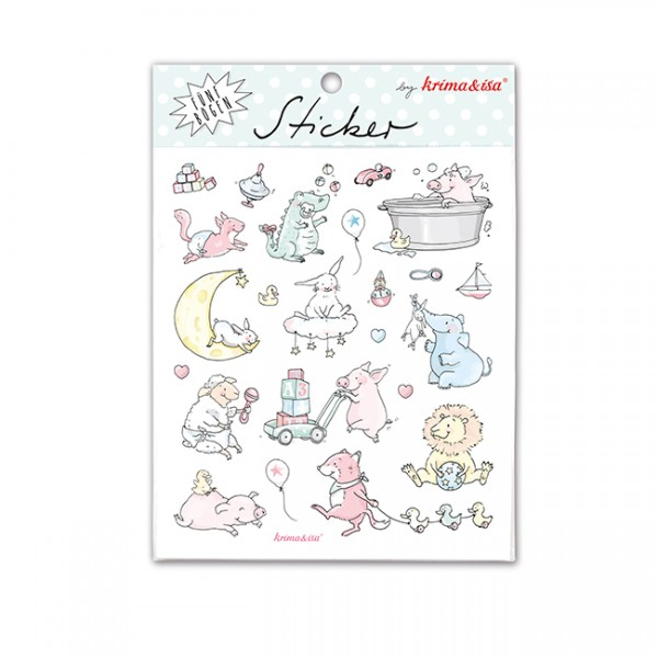 Krima & Isa Sticker Set Babytiere