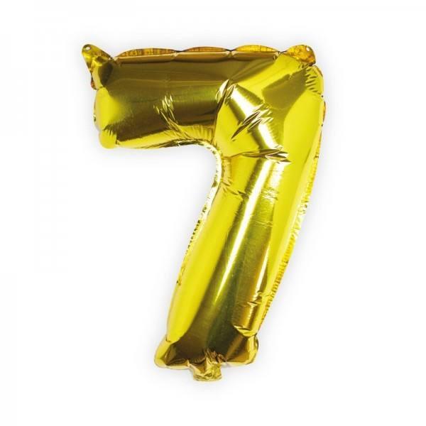 Ballon gold Zahl 7