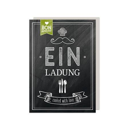 Einladungs Set Bon Appetit